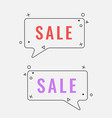 simple sale square speech bubbles with geometric vector image vector image