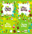 spring garden lettering posters vector image