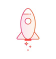 start up business outlined icon rocket startup vector image vector image