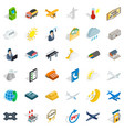 station icons set isometric style vector image vector image