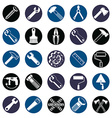 Stylized industrial icons 3d work tools collection vector image