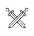 swords line icon sign on vector image vector image