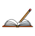 text book with pencil vector image vector image