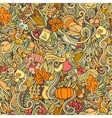 Thanksgiving autumn symbols food and drinks vector image vector image