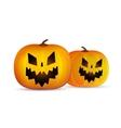 two halloween pumpkins head isolated vector image vector image
