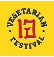 Vegetarian festival jay food sign vector image vector image