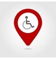 Wheelchair map pin icon vector image
