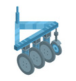 wheels tractor machinery icon isometric style vector image vector image