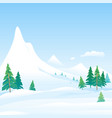 winter nature landscape background vector image vector image