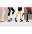woman legs in shoes vector image vector image