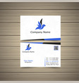 worldwide business card vector image vector image