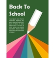 Colorful rainbow coming out of Pencil Perfect vector image