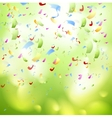 Bright shiny confetti abstract design template vector image