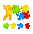 color puzzles vector image