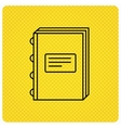 Book icon Education sign vector image