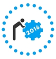 2016 Working Man Icon vector image vector image