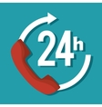 24 hours service symbol vector image