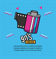90s forever design vector image vector image