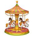 A merry-go-round horse ride vector image vector image
