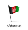 afghanistan flag on pole infographic element on vector image vector image