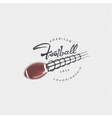 american football - badge sticker can be used vector image