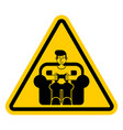 attention gamer yellow road sign danger caution vector image vector image