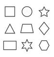 basic geometric shapes icon set vector image