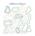 big set hand drawn organic shapes abstract vector image vector image