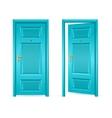 Blue Door Open and Closed vector image