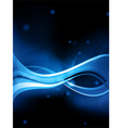 blue neon wave background vector image vector image