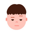 boy head emoji with facial emotions avatar vector image
