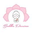 buddha with wheel of dharma symbol vector image