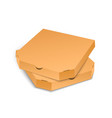 cardboard pizza box template isolated on white vector image vector image