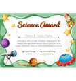 Certification template for science award vector image vector image