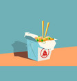 chinese fast food vector image