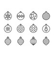 christmas ball bauble icon set suitable for use vector image vector image