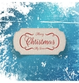 Christmas realistic greeting cardboard Label vector image vector image