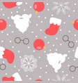 christmas themed seamless pattern santas beard vector image