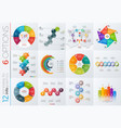 collection of 12 templates for infographics vector image vector image