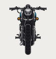 colorful motorcycle front view concept vector image