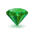 Dazzling shiny green emerald on white vector image vector image