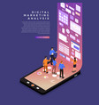 digital marketing analysis vector image vector image