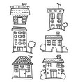 doodle of house set vector image vector image