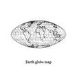 earth globe map drawn sketch in vector image