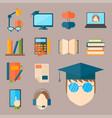 education and school web icon vector image vector image
