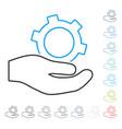 engineering service contour icon vector image vector image
