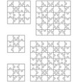 five different white puzzle vector image vector image