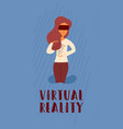 flat banner lettering virtual reality vector image
