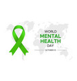 for world mental health day vector image