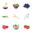 fruit dessert sandwiches and other types of food vector image vector image